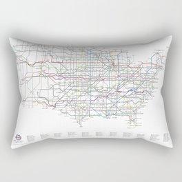 U.S. Numbered Highways as a Subway Map Rectangular Pillow