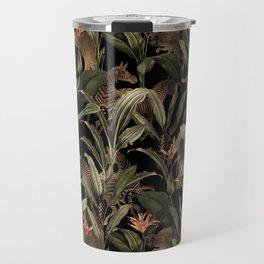 Vintage Midnight Jungle Safari Garden Travel Mug