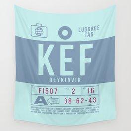Baggage Tag B - KEF Reykjavik Keflavik Iceland Wall Tapestry