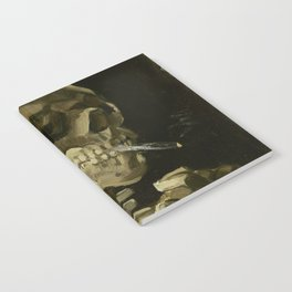 Skull of a Skeleton with Burning Cigarette by Vincent van Gogh Notebook