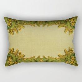 """""""Floral farm (burlap texture)"""" Rectangular Pillow"""