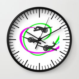 Aerobatic planes  Vivid Vapor trails Wall Clock