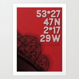 Manchester Utd, Old Trafford stadium Art Print