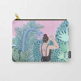 Jungle Babe Illustration Carry-All Pouch
