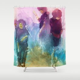 Ink In Motion Shower Curtain