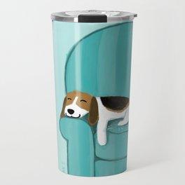 Happy Couch Beagle | Cute Sleeping Dog Travel Mug