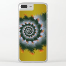 Christmas Swirl D1 Clear iPhone Case