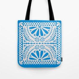 Fiesta de Flores in Party Blue Tote Bag