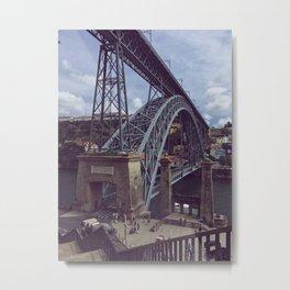 crossing bridges Metal Print