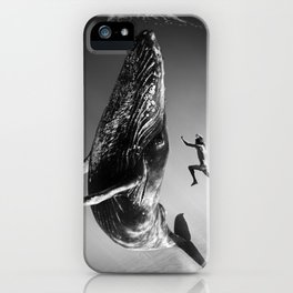 la baleine et le nageur iPhone Case