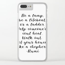 Rumi amazing quote Clear iPhone Case