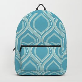 Abstract Turquoise Backpack