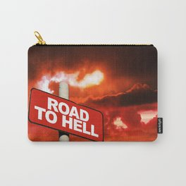 Road to hell sign Carry-All Pouch