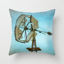 Vintage Challenge Company Wooden Sectional Windmill Batavia Illinois Throw Pillow