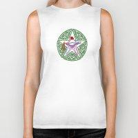 pentagram Biker Tanks featuring Lover's Pentagram by Groomporter