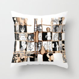 Coffee Puzzle Throw Pillow