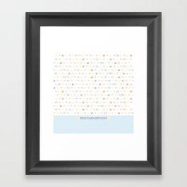 Tosh Con Shirt Design Framed Art Print