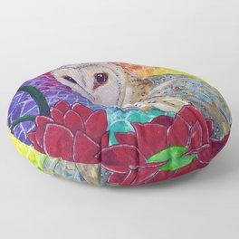 Lakshmi's Vahana ( Bird Whisperer Project Owl ) Floor Pillow
