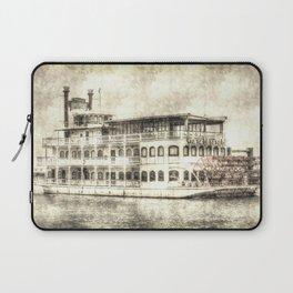 New Orleans Paddle Steamer Vintage Laptop Sleeve