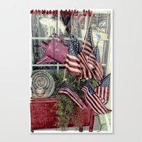 patriotic Canvas Prints featuring Patriotic by Colleen G. Drew
