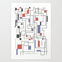 Beauty of lines Art Print