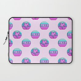 """Vaporwave pattern with palms and words """"yikes"""" #2 Laptop Sleeve"""