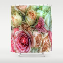 Roses - Pink and Cream Shower Curtain