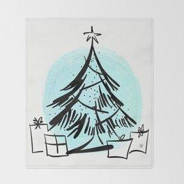 Holiday Greetings Throw Blanket
