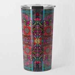 no. 183 multicolored red border Travel Mug