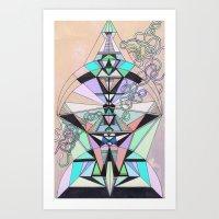 aztec Art Prints featuring Aztec by QUEQZZ