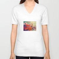 takmaj V-neck T-shirts featuring Allium by takmaj