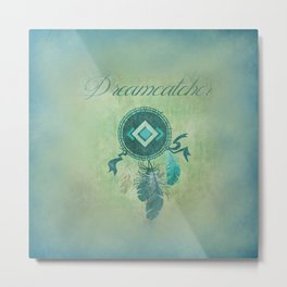 Dreamcatcher On a Misty Green Background Metal Print