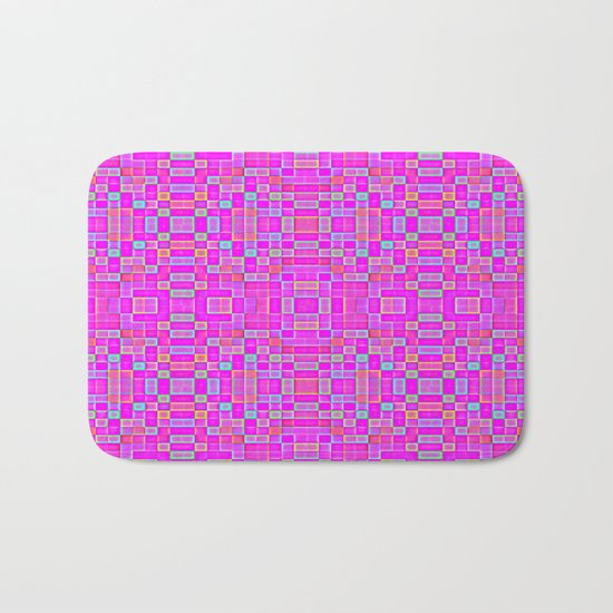 Candy Colored Pixels Bath Mat