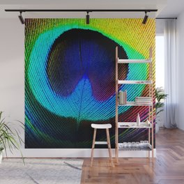 Colorfull Feather Peacock Wall Mural