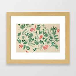 Fiore Rosso Framed Art Print