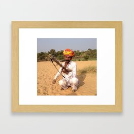 Rajastan Music Man Framed Art Print