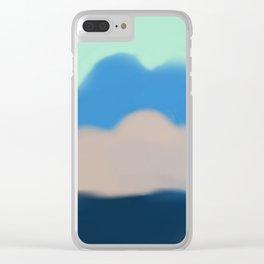 Blue Sky Electric Clear iPhone Case