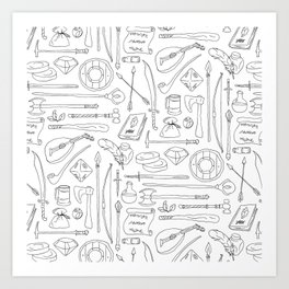 Fantasy Adventuring Equipment Art Print