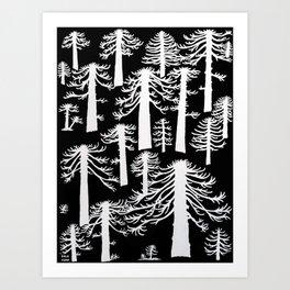 Araucarias Blancas Art Print