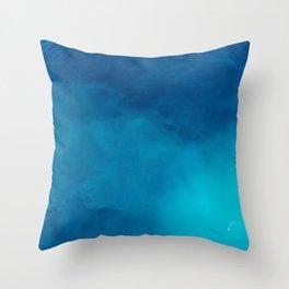Deep Blue Wonder Throw Pillow