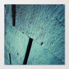 Blue Wood Grain Canvas Print