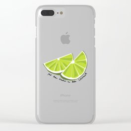 Lime in the Coconut Clear iPhone Case