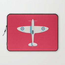 Supermarine Spitfire WWII fighter aircraft - Crimson Laptop Sleeve