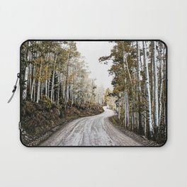 A Winding Autumn Road Laptop Sleeve