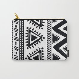 Tribal black and white Carry-All Pouch