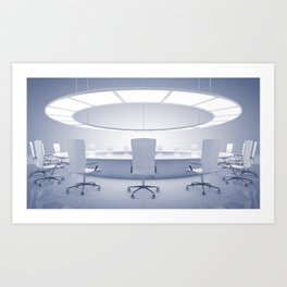 Boardroom interior Art Print