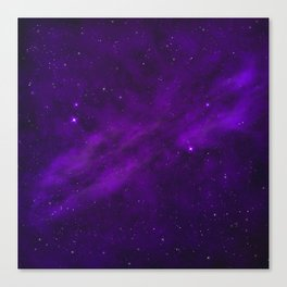 Ultra Violet Galaxy Canvas Print