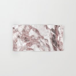 White and Pink Marble Mountain 02 Hand & Bath Towel