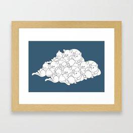 Pile o' Kitties Framed Art Print