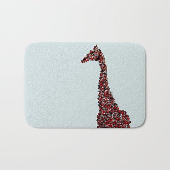 Red Giraffe Bath Mat